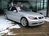 2007 Titanium Silver Metallic BMW 3 Series 335i Sedan #25792595