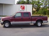 2004 Dark Toreador Red Metallic Ford F250 Super Duty XLT Crew Cab #25792927