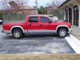2004 Flame Red Dodge Dakota SLT Quad Cab #25792696