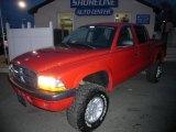 2004 Flame Red Dodge Dakota SXT Quad Cab 4x4 #25841828