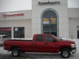 2007 Flame Red Dodge Ram 1500 SLT Quad Cab 4x4 #25841588