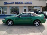 1999 Electric Green Metallic Ford Mustang GT Convertible #25841745