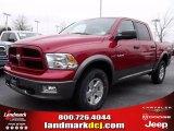 2010 Inferno Red Crystal Pearl Dodge Ram 1500 TRX4 Crew Cab 4x4 #25841629
