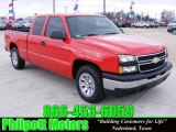2007 Victory Red Chevrolet Silverado 1500 Classic LS Extended Cab #25891128
