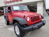 2010 Flame Red Jeep Wrangler Sport 4x4 #25891237