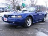 2002 Sonic Blue Metallic Ford Mustang V6 Convertible #25920041