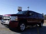 2009 Deep Ruby Red Metallic Chevrolet Silverado 1500 LT Extended Cab #25964651