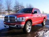 2007 Flame Red Dodge Ram 1500 Big Horn Edition Quad Cab 4x4 #25964835