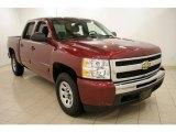 2009 Deep Ruby Red Metallic Chevrolet Silverado 1500 LT Crew Cab 4x4 #25964850