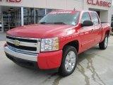 2008 Victory Red Chevrolet Silverado 1500 LS Crew Cab 4x4 #26000016