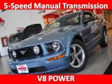 2006 Vista Blue Metallic Ford Mustang GT Deluxe Coupe #25999603
