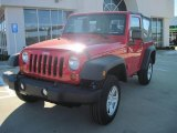 2010 Flame Red Jeep Wrangler Sport 4x4 #25999934