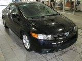 2007 Nighthawk Black Pearl Honda Civic EX Coupe #26000175