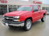 2006 Victory Red Chevrolet Silverado 1500 LS Regular Cab 4x4 #26000067