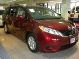 2011 Salsa Red Pearl Toyota Sienna LE #25999452