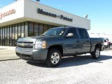 2008 Blue Granite Metallic Chevrolet Silverado 1500 LT Crew Cab #25999578