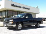 2006 Blue Granite Metallic Chevrolet Silverado 1500 Work Truck Regular Cab #25999579