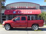 2006 Inferno Red Crystal Pearl Dodge Ram 1500 Big Horn Edition Quad Cab #26068091