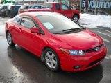 2007 Tango Red Pearl Honda Civic EX Coupe #26068245