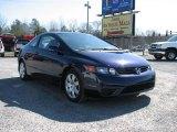2007 Royal Blue Pearl Honda Civic LX Coupe #26068247