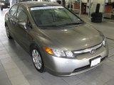 2007 Galaxy Gray Metallic Honda Civic LX Sedan #26068540