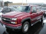 2006 Sport Red Metallic Chevrolet Silverado 1500 Z71 Crew Cab 4x4 #26068268