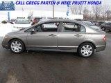 2007 Galaxy Gray Metallic Honda Civic LX Sedan #26067983