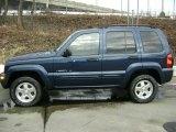 2002 Patriot Blue Pearlcoat Jeep Liberty Limited 4x4 #26068341