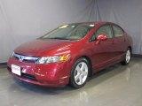 2007 Tango Red Pearl Honda Civic EX Sedan #26068356
