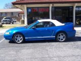 2000 Bright Atlantic Blue Metallic Ford Mustang GT Convertible #26068375