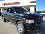 2004 Black Dodge Ram 1500 Laramie Quad Cab 4x4 #26125746