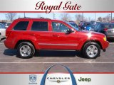 2006 Inferno Red Crystal Pearl Jeep Grand Cherokee Limited 4x4 #26125275