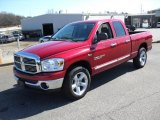 2007 Inferno Red Crystal Pearl Dodge Ram 1500 SLT Quad Cab #26177589