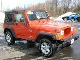 2006 Impact Orange Jeep Wrangler X 4x4 #26177545