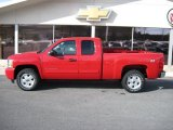 2010 Victory Red Chevrolet Silverado 1500 LT Extended Cab 4x4 #26210671