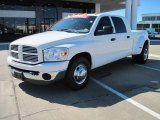 2007 Bright White Dodge Ram 3500 Sport Mega Cab 4x4 Dually #26210541