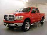 2006 Flame Red Dodge Ram 1500 SLT Quad Cab 4x4 #26210686