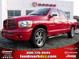 2006 Flame Red Dodge Ram 1500 Sport Quad Cab #26210250