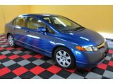 2007 Atomic Blue Metallic Honda Civic LX Sedan #26210609