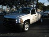 2010 Sheer Silver Metallic Chevrolet Silverado 1500 Regular Cab #26210147