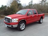 2007 Flame Red Dodge Ram 1500 SLT Quad Cab #26258913
