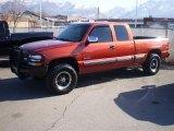 2001 Sunset Orange Metallic Chevrolet Silverado 1500 LT Extended Cab 4x4 #26258936