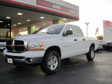 2006 Bright White Dodge Ram 1500 SLT Quad Cab 4x4 #26258666