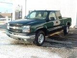 2004 Dark Green Metallic Chevrolet Silverado 1500 Z71 Extended Cab 4x4 #26258854