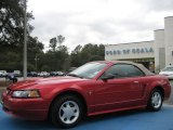 2001 Laser Red Metallic Ford Mustang V6 Convertible #26258292