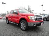 2010 Vermillion Red Ford F150 XLT SuperCrew 4x4 #26258329