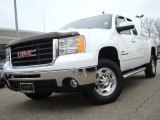 2007 Summit White GMC Sierra 2500HD SLT Extended Cab 4x4 #26307289