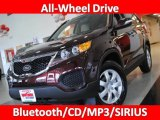2011 Dark Cherry Kia Sorento LX AWD #26307439