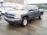 2008 Blue Granite Metallic Chevrolet Silverado 1500 LT Extended Cab 4x4 #26355444