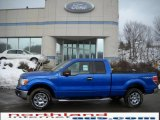 2010 Blue Flame Metallic Ford F150 XLT SuperCab 4x4 #26355474